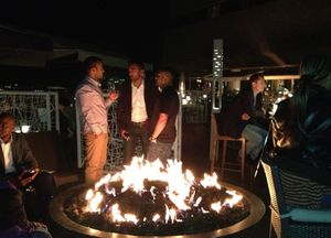 The fire-pit terrace is THE hot spot