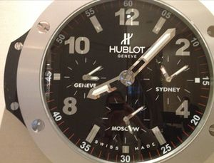 The giant Hublot clock