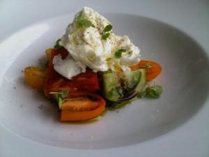 A high-expense tomato starter at Café Sydney