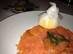 Smoked salmon and gravadlax at The Dorchester's Grill