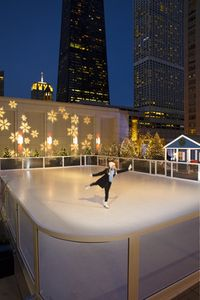 The annual winter-only skating rink