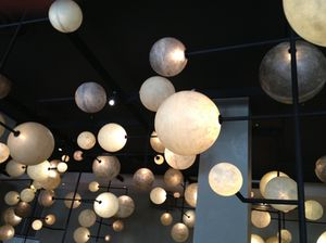 Bubbles overhead in the Pump Room