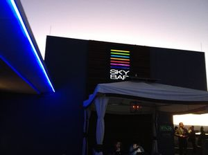 The rooftop Sky Bar