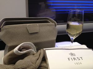 Settling in to a First Class 'space' on British Airways