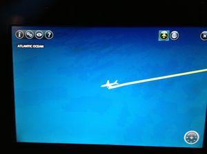 Watching your over-ocean progress on your big screen