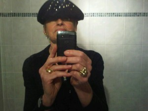 Mary Gostelow and the Borsalino hat