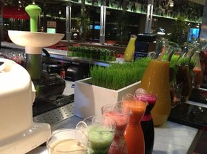 Breakfast's juice bar...
