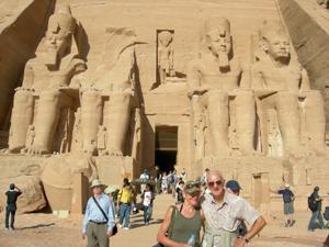 Walking at Abu Simbel, Egypt