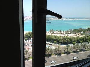 Abu Dhabi Hilton windows open