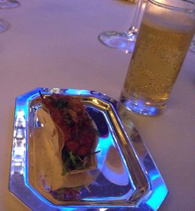 Another chef's surprise, Wagyu taco with Corona