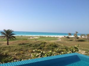 Look out over 101's pool, the golf course and the beach