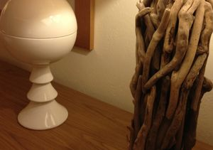Two adjacent table lamps