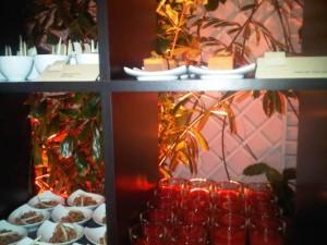 Back-lit display of dinner desserts at the Adlon Kempinski luxury hotel in Berlin, Germany