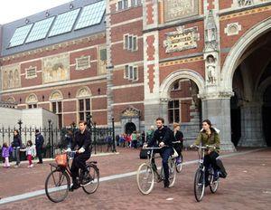 Outside Amsterdam's Rijksmuseum