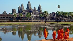Siem Reap's easily identifiable temples, and monks