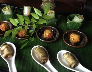 Khmer canapés, by Geoffrey Crabbe