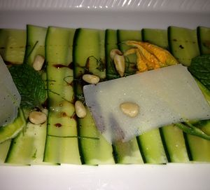 A healthy courgette carpaccio