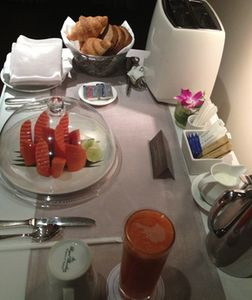 Room service breakfast at 5a.m