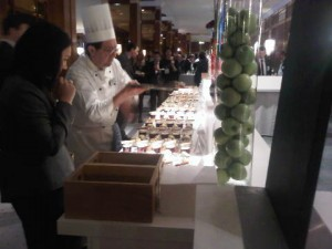 Live cooking station at the InterContinental Berlin hotel main ballroom - International Hotel Investment Forum lunch venue for 1,700 guests