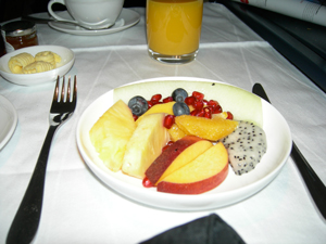 A German room service breakfast (at Villa Kennedy, Frankfurt