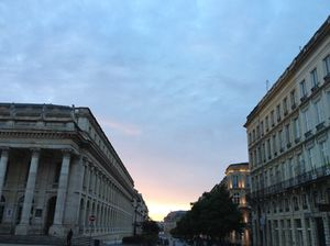 Looking across at the Opera (left) as the sun comes up
