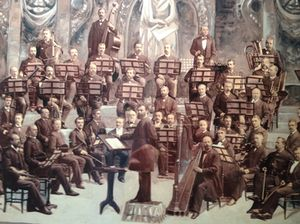 Boston Symphony Orchestra, on a wall of suite