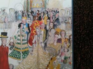 Original Christmas art by Susan Macartny-Snape for Mandarin Oriental London Hyde Park