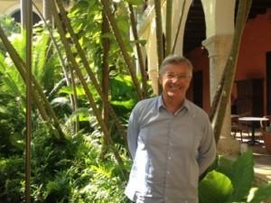 Richard Launay in his garden