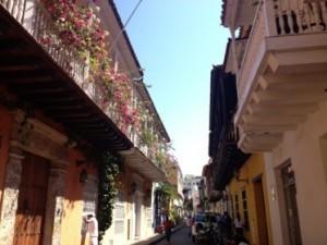A typical Cartagena street