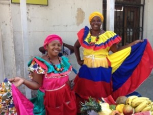 Fruit sellers in Cartagena