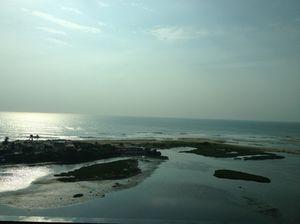 Looking out at Marina Beach