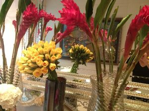 There are hundreds of flower arrangements