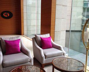 Silk cushions in the hotel lobby
