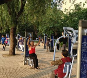 Park of the Park's large work-out area