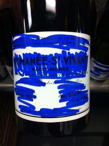 Bastardised DRC bottle after a 'connoisseur' tasting