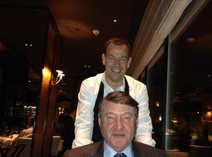 Tom Krosswijk and Chef Richard van Oostenbrugge