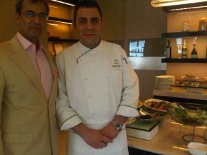 The Oberoi Mumbai's general manager Devendra Bharma and chef Vincenzo di Tuoro, in hotel's Vetro restaurant