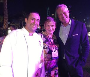 Chef Cladys Magagna, left, and Nils Axing