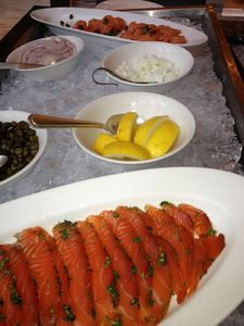 Dunes' buffet salmon...