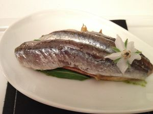.. as do fresh anchovies, as amuse