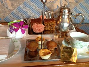 Afternoon tea, again in the suite