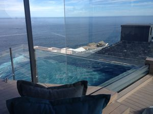 And at the top, the new villa-suite's rooftop glass-bottomed pool