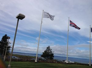 Flags at Fairmont St Andrews
