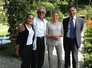 Quartet in the sun, from left, Patricia, Giulio Gentile and Marco Novella