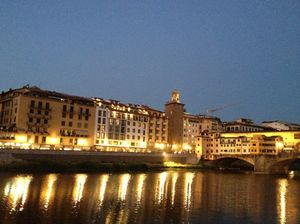 View back across the Arno (Ponte Vecchio to the right)