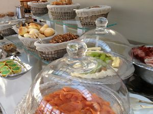 .. and on the breakfast buffet