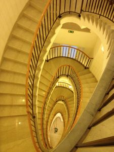 Actually, the hotel's staircase looks like a patissier's creation!