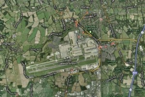 Flying into London's Gatwick airport