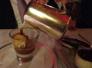 ..and an affogato, espresso poured over ice-cream