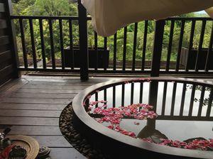 The spa room's balcony
